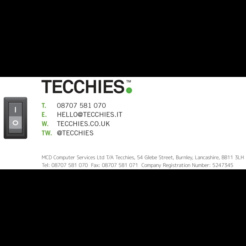 Tecchies Ltd. - IT Services Burnley, Lancashire | 54 Glebe St, Burnley BB11 3LH | +44 333 222 4022