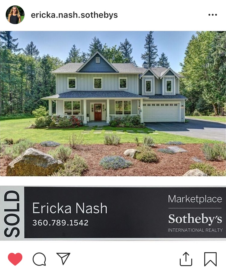 Ericka Nash | Real Estate Broker Marketplace Sothebys Redmond Sammamish | 16261 Redmond Way, Redmond, WA, 98052 | +1 (360) 789-1542