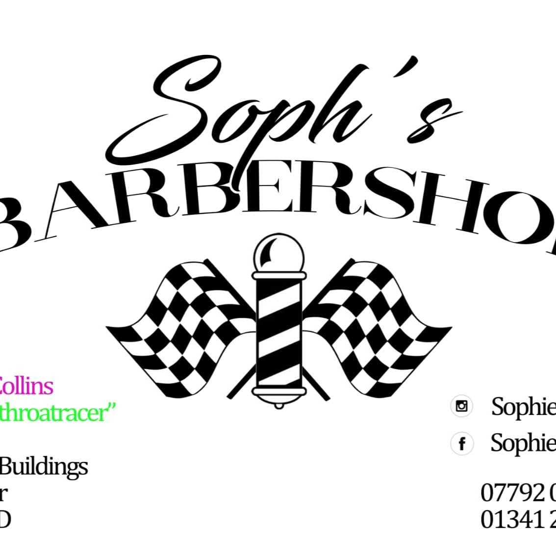 Sophs Barbershop.Barber Mens Haircut, Styling Skinfades Perm`s, Hot towel wet Shave. Gwynedd | 1 Victoria Buildings, Llanbedr LL45 2LD | +44 1341 241379